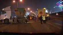 Basın Ekspres yolunda feci kaza: 9 araç birbirine girdi