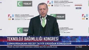 Cumhurbaşkanı Erdoğan Teknoloji Bağımlılığı Kongresi'nde konuştu