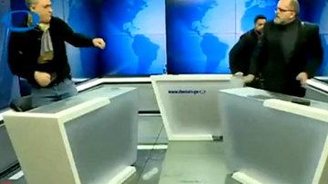 Gürcistan'da canlı yayın kavgası!