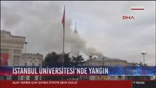 İstanbul Üniversitesi'nde yangın! Çok sayıda itfaiye ekibi sevkedildi