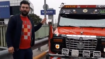 Modifiye yasaklarına isyan eden kamyon sürücüsü