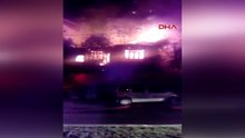 Kağıthane'de metruk bina yandı