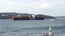 366 metrelik gemi Çanakkale Boğazı'nı kapattı