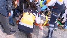 İstanbul'da kamyonet çarpan işçiye yoldan geçen kadın doktor müdahale etti