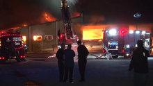 Alibeyköy'de beyaz eşya deposunda korkutan yangın