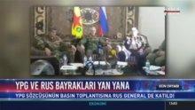 Rus komutandan terör örgütü YPG'nin sözcüsüyle skandal fotoğraf!