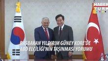 Başbakan Yıldırım'dan Güney Kore'de üst düzey ziyaretler
