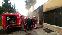 Ataköy'de bir spor salonunun sauna kısmında yangın çıktı