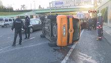 D-100 Karayolu Edirnekapı mevkiinde kaza! Bir araç takla attı