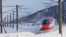 Karlar altında ilerleyen Japonya'nın teknolojik trenleri