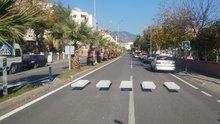 Aydın'da sürücüleri şaşırtan 3 boyutlu yaya geçidi