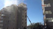 Kocaeli'de yangın çıkan binada mahsur kaldılar