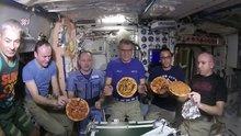 Astronotlar uzayda pizza yaptı!
