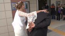 Konya'da polis gelin, damadı nikah salonuna kelepçeyle getirdi