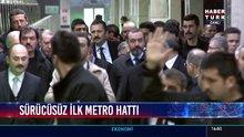 Başbakan Yıldırım, sürücüsüz ilk metro hattını inceledi