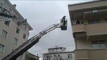 Kocaeli' bir evde yangın çıktı!