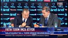 Fatih Terim  Galatasaray'a imza attı! Basın toplantısı