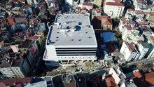 Taksim İlk Yardım Hastanesi havadan görüntülendi