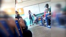 Kadın öğretmenden öğrenciye sınıfta şiddet kamerada