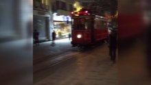 Nostaljik tramvay İstiklal Caddesi'nde