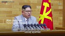 Kuzey Kore lideri Kim Jong Un'dan 2018'in ilk tehdidi