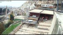 Kalede fotoğraf için poz verirken düşüp hayatını kaybeden Halil Dağ'ın düşme anı