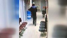 Sağlık ocaklarına dadanan hırsız kamerada
