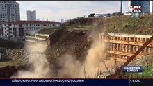 Ataşehir'deki toprak kayması anı