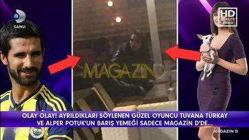 Tuvana Türkay ve Alper Potuk barış yemeği yedi