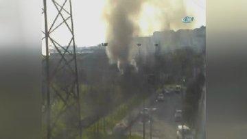 E-5 Otoyolu Avcılar mevkiinde dumanlar yükseliyor