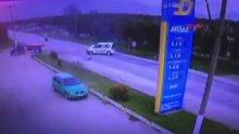 Bursa'da korkunç kaza güvenlik kamerasında