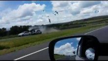 Brezilya'da ters yöne giren alkollü sürücü metrelerce havaya uçtu