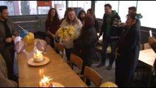 Doğum gününü hiç kutlayamayan Rahime Teyze'ye üniversite öğrencilerinden sürpriz