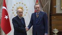 Cumhurbaşkanı Erdoğan, MHP Lideri Devlet Bahçeli'yi kabul etti
