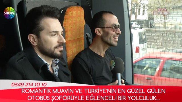 Türkiye'nin en güzel gülen otobüs şoförü!