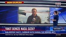 Urla'da yakıt denize aktı