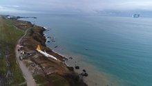 Pistten çıkan Pegasus Havayollarına ait uçak havadan böyle görüntülendi