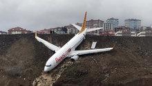 Pistten çıkan Pegasus Havayolları uçağının inişi kamerada!