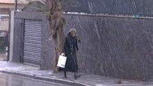 Üsküdar'da kar yağışı başladı