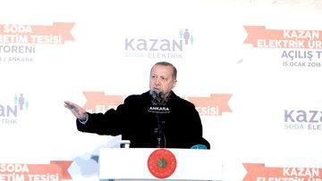 Cumhurbaşkanı Erdoğan Kazan Soda Elektrik Üretim A.Ş. açılışında konuştu