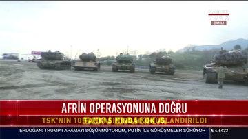 TSK'nın 10 tankı sınırda konuşlandırıldı