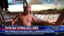 Putin buz tutmuş göle girdi