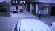 5. kattan düşen kadını tutmaya çalıştılar ama başaramadılar
