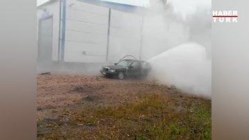 Tank yıkama tabancası otomobilin içine konursa