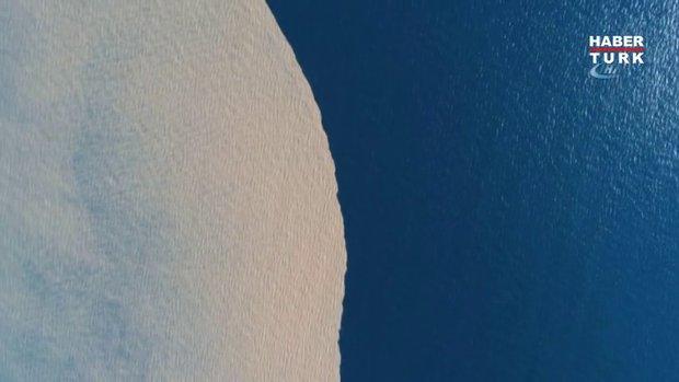Kocaeli Körfezi'nin iki rengi, havadan görüntülendi