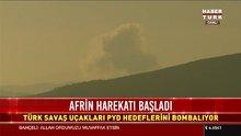 Afrin'e hava harekatı başladı
