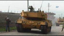 Tanklar alkış ve sloganlar eşliğinde Afrin'e ilerliyor