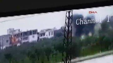 Reyhanlı'ya düşen roket güvenlik kamerasında