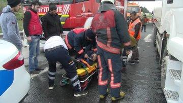 Hadımköy gişelerdeki kaza TEM'i kapattı