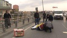 Şişli'de motosiklet kazası